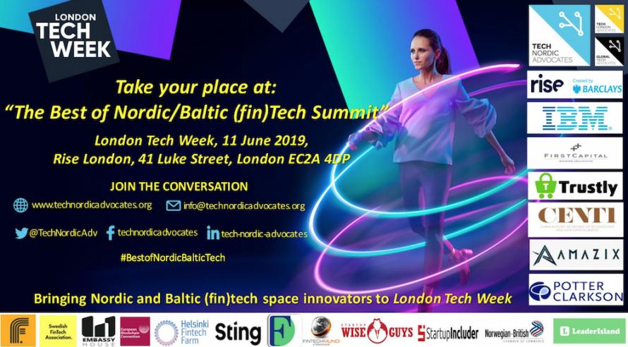 London Tech Week Nordic Baltic FinTech